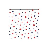 40 ct. Red and Blue Star Beverage Napkin
