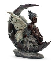 "19.5"" Bronze Fairy On The Moon"