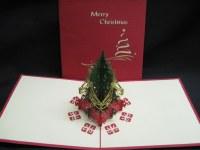 "6"" Square Pop Up Christmas Tree Card"