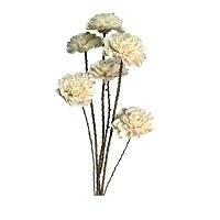 """Bundle of 6 33"""" White Dahlia Flower Bouquet"""