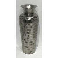 "18"" Antique Metal Textured Vase"