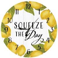 "16"" Round Lemon Squeeze Clock"
