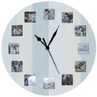 "24"" Round Photo Frame Clock"