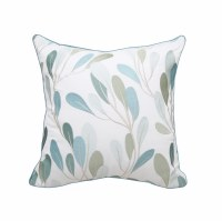 """20"""" Square Blue and Green Sea Vines Pillow"""