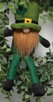 "9"" Sitting Gnome With Leprechaun Hat and Red Beard"