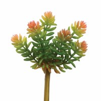 "7"" Faux Pink and Green Multi Stemmed Succulent"
