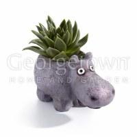 "3"" Gray Hazel the Hippo Planter"