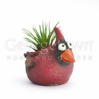 "3"" Red Baby Cardinal Bird Mini Planter"
