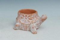 "9"" Terracotta Ceramic Turtle Pot With Drainage Hole"