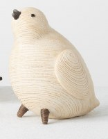 """4"""" Cream Faux Wood Chick"""