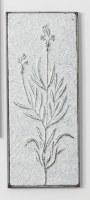 """23"""" Hammered Iron Two Small Flowers Wall Plaque"""