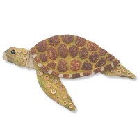 """16"""" Coconut Turtle With Head Up Plaque"""