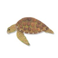 """16"""" Coconut Turtle With Head Down Plaque"""