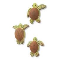 "Set of Three 7"" Coconut Turtle Plaques"
