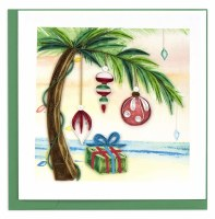 """6"""" Square Quilling Island Holiday Greeting Card"""