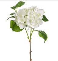 "15"" Faux White Hydrangea Spray"