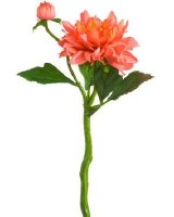 "14"" Faux Watermelon Dahlia Spray"