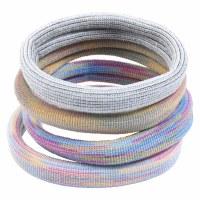 Set of 4 Cabana Stripe Fabric Hair Bands