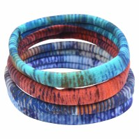 Set of 4 Ocean Sunset Fabric Hair Bands