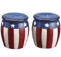 "2"" Red, White, and Blue Stars & Stripes Salt and Pepper Shakers"