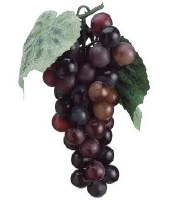 "7"" Faux Two-Toned Burgundy Bunch of Grapes"