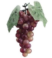 "7"" Faux Rose Green Bunch of Grapes"