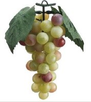 "7"" Faux Green Bunch of Grapes"