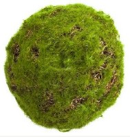 """4"""" Faux Green Moss Orb"""