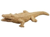 "29"" Beige Wicker Alligator"
