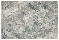 5.3' x 7.3' Gray and Blue Evolution Rug 0984D