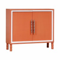 """41"""" Coral With White Edging 2-Door Cabinet"""