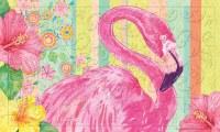 """18"""" x 30"""" Floral Flamingo Embossed Doormat"""