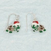 Christmas Turtle Earrings