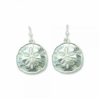 Matte Silver Sand Dollar Earrings