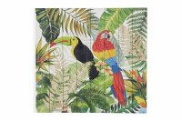 """30"""" Square Red Parrot and Toucan Wood Pallet Wall Plaque"""
