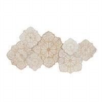 "26"" x 53"" Whitewash Diamond Medallions Wood Wall Decor"
