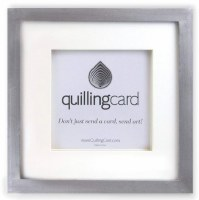 """11"""" Square Brushed Silver Shadow Box Frame For Quilling Cards"""