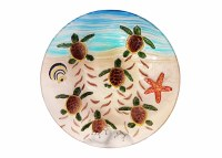 """12"""" Round Turtle Hatchling Glass Plate"""