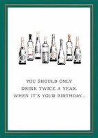 You Should Only Drink Twice a Year Birthday Card