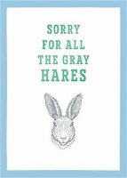 Blue and Green Gray Hares Birthday For Her Card