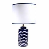 "20"" White Little School of Fish Ceramic Table Lamp"