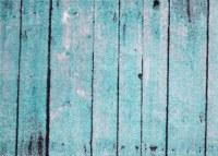 """20"""" x 28"""" Turquoise Barnwood Washable Rug"""