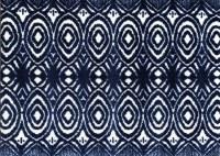 "20"" x 28"" Blue Ink Ikat Washable Rug"
