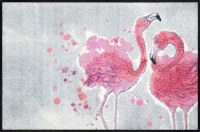 "20"" x 30"" Pink Flamingos Washable Floor Mat"