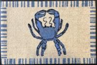 """20"""" x 30"""" Blue Crab Washable Floor Mat"""