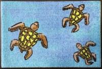 "20"" x 30"" Sea Turtle Trio Washable Floor Mat"