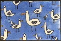 "20"" x 30"" Flock of Seagulls Washable Floor Mat"