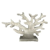 """31"""" Faux Distressed White Coral on Base"""