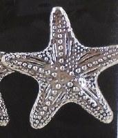 "2"" Silver Starfish Metal Napkin Ring"