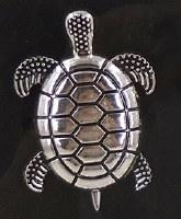 """2"""" Silver Turtle Metal Napkin Ring"""